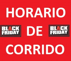 Horario de corrido durante el Black Friday